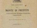 MONTE DEI PRESTITI - 1931