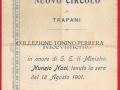 1901(18-8) RICEVIMENTO  AL NUOVO CIRCOLO