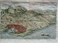 1759 - Accampamenti dei Romani e dei Cartaginesi ad Erice. Stampa in calcografia eseguita ad Amsterdam da Zacharias Chatelain.