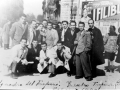 TRAPANI CALCIO 1945-46  (La squadra granata a Palermo prima della partita contro i rosanero)