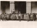 1931 - IL COL.SCALA PRONUNCIA IL DISCORSO DI OFFERTA DEL LABARO ALLA 174  LEGIONE SEGESTA