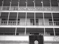 Mussolini e Biagi affacciati al balcone del sanatorio antitubercolare Torrebianca